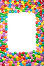 Colorful Chocolate Candy Frame Royalty Free Stock Images