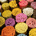 Colorful chopstick in the market Royalty Free Stock Photo