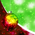Colorful Christmas Ball card template. EPS 8 Royalty Free Stock Image
