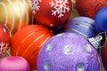 Colorful Christmas balls Stock Image