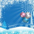 Colorful Christmas balls Stock Photo