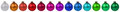 Colorful Christmas balls baubles decoration border in a row isol Royalty Free Stock Photo