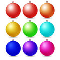 Colorful christmas balls. Set of isolated decorations. Vector il