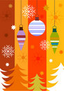 Colorful Christmas card Stock Photos