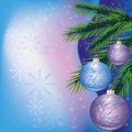 Colorful Christmas card Stock Image