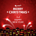 Colorful Christmas card and New Year greetings vector illustration Royalty Free Stock Photo