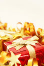 Colorful Christmas gift Stock Photo
