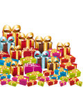 Colorful christmas gifts. Royalty Free Stock Images
