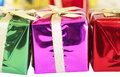 Colorful Christmas gifts Royalty Free Stock Photo