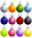 Colorful Christmas Ornaments Collection Royalty Free Stock Photos