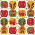 Colorful Christmas pattern seamless Royalty Free Stock Photos