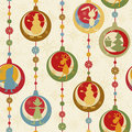 Colorful Christmas seamless pattern Stock Photography
