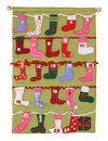 Colorful Christmas Stockings Stock Photography
