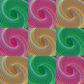 Colorful Christmas seamless holiday swirl pattern Royalty Free Stock Photo