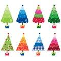 Colorful Christmas Trees