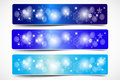 Colorful christmas vector banner and shine Royalty Free Stock Photography