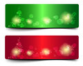 Colorful christmas vector banner and shine Royalty Free Stock Photo