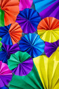 Colorful circle of fans paper Royalty Free Stock Photo