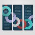 Colorful circle layout design for banners set template Stock Photography