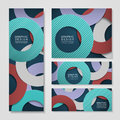 Colorful circle layout design for banners set template Royalty Free Stock Images