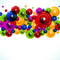 Colorful Circles background Stock Photos