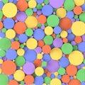 Colorful circles, 3D render