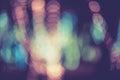 Colorful circles of light abstract bokeh Royalty Free Stock Photo