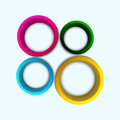 Colorful circles with place for your text Stock Photos