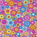 Colorful Circles Seamless Geometric Pattern Royalty Free Stock Photo