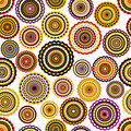 Colorful circles seamless pattern. Stock Image