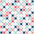 Colorful circles seamless pattern. Simple dots texture. Baby pattern. Royalty Free Stock Photo
