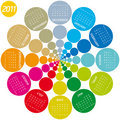Colorful Circular Calendar 2011 Stock Photo