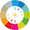 Colorful Circular Calendar 2011 Royalty Free Stock Images