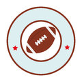 Colorful circular emblem with football ball and label