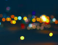 Colorful City Bokeh On A Very Dark Background Royalty Free Stock Photo