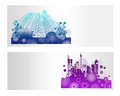 Colorful city vector banner backround Stock Image