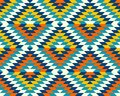 Colorful classic aztec diamonds pattern