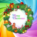 Colorful classical christmas card Royalty Free Stock Photography