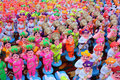 Colorful Clay Idols Stock Image