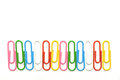 Colorful clips isolated in row for wallpaper Royalty Free Stock Photo