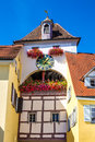 Colorful Clock Tower-Meersburg,Germany,Europe Royalty Free Stock Photo