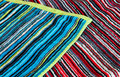 Colorful cloth texture decorative towel Royalty Free Stock Photography