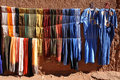 Colorful clothes, Morocco Stock Images