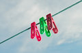 Colorful clothes pegs Royalty Free Stock Photography