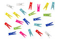 Colorful clothespins. Royalty Free Stock Photo