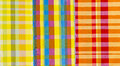 Colorful cloths textile close up background Stock Photo