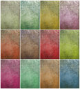 Colorful cloudy grunge wall set Royalty Free Stock Photo