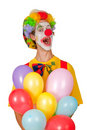 Colorful clown with balloons Stock Photo