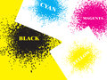 Colorful CMYK Design Elements Royalty Free Stock Photo