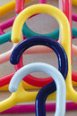 Colorful coat hangers made from plastic Royalty Free Stock Photography